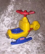 Vintage Fisher Price Lil People Interactive Sound Helicopter 2001 Mattel 77980