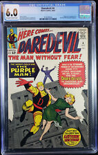 DAREDEVIL  # 4 CGC 6.0 Fine  Oct '64  The Purple Man!!  What a Steal of a Deal!
