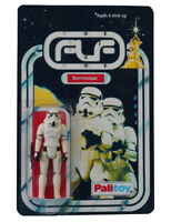 Vintage 1977 Star Wars Stormtrooper Figure On Custom Made Card Back
