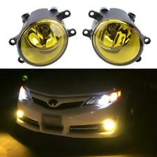 Pair Yellow Fog Lights Front Bumper Driving Lamp for Toyota Camry Corolla 06-11