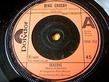 """BING CROSBY - SEASONS  7"""" VINYL"""