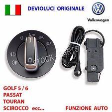 Devioluci ORIGINALE + SENSORE AUTO VW GOLF 5 V 6 VI interrutore pulsante luci