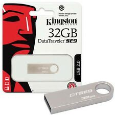 Kingston 32GB Data Traveler Metal Slim SE9 USB Pen Memory FlashDrive DTSE9H/32GB