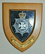 Wiltshire Constabulary mess wall plaque shield crest Police