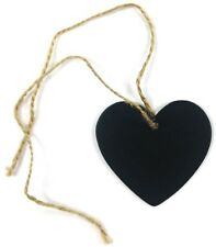 10 Mini Heart Blackboard Tags + Chalk for *Wedding*Buffet*Showers*Beach Party*