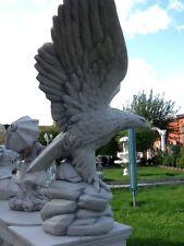 Gartenfiguren, Adler, Steinstatue H.60 cm Skulptur, Steinguss, Vögel, Gartendeko