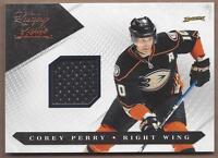 2010-11 Panini Luxury hockey card jersey Corey Perry, Anaheim Ducks