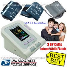 Digital Blood Pressure Monitor 3 Cuffs Adult Child Infant BP Monitor Software,US