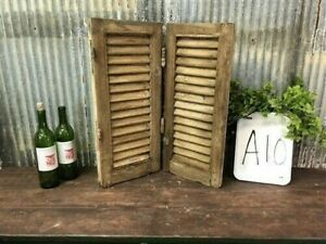 Small Antique Farmhouse Shutter, Natural Wood Shutter Architectural Salvage A10,