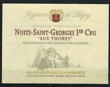 Etiquette de Vin - Bourgogne - Nuits Saint-Georges 1°Cru - Aux Thorey -N°128