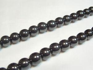 "16"" string x Magnetic Hematite Beads : MAG08 6mm Round"