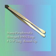"""Showgard Stamp Tongs 4 5/8"""" Long, Round Tip (#905)"""