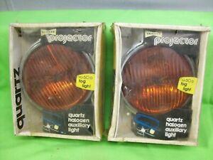 NOS Yankee Vintage Projector Glass Lens Fog Lights Lamps Custom Hot Rat Rod