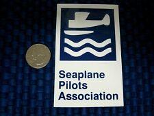 "Vintage Unused Seaplane Pilots Association Blue & White Sticker/Decals 2.5"" x 4"""