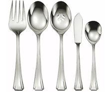 Oneida Bordeaux 5 Piece Serving Set Tablespoon Pierced Spoon Fork Sugar Spoon