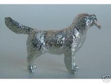 MINIATURE STERLING SILVER GOLDEN RETRIEVER DOG FIGURINE