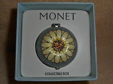"Monet "" Sunflower "" Collectible Keepsake Trinket Box with Org. Box"