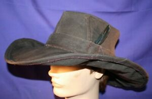 Carhartt Cowboy Hat size L or 7 1/2 handmade brown OOAK formable duck fedora