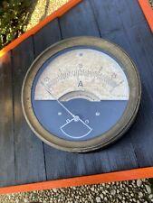 großer alter Amperemeter Messgerät Metall Gehäuse