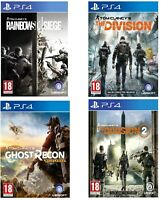 Tom Clancy's Rainbow Six Siege - The Division PS4 - Wildlands - MINT - FAST DEL