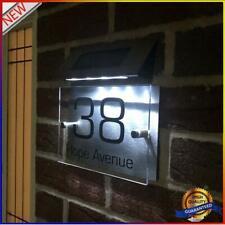 Solar Beleuchtete Hausnummer mit 4 LEDs, Solar Außenwandleuchte Hausnummern #OS