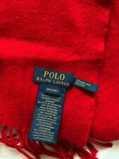 BNWT Unisex Ladies/Gents/Men/Womens POLO RALPH LAUREN Red 100% Cashmere Scarf/Sh