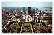 Postcard South View from the Louisiana Capitol, Baton Rouge LA 1983 J47