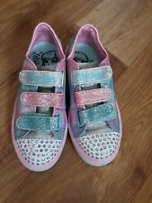 SKECHERS Girls Twinkle Toes Shoes -light Up Size Uk 12.5