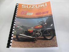 Suzuki GT550  parts & service combo  manual  1972-1975