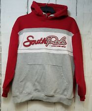 Authentic South Pole Denim Hoodie Red Gray Large mens sweatshirt