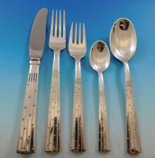 Champagne by O. Mogensen Danish Sterling Silver Flatware Set Modern 34 Pcs