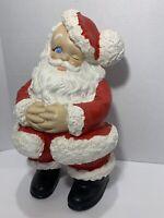 Vintage Santa Claus Ceramic Jolly Winking Christmas Old Fashioned