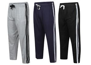 Mens Boys Night Wear Pyjama Bottom Plain Lounge Wear  Pants Trousers  S-2xl