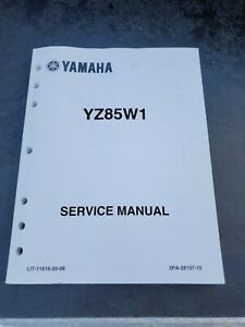 Yamaha Yz85 Motorcycle Repair Manuals Literature For Sale Ebay