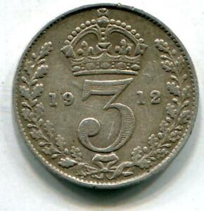 1912 Titanic Vintage Solid Sterling Silver Threepence White Star Line C137