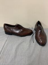 Dexter Mens Size 12 W Brown Leather Brogue Wingtips Made in USA FS Bnfts Charity