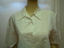 CACHAREL Vintage Chemise blanche Femme L/XL manches courtes