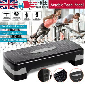 Aerobic Stepper Cardio Fitness Step Board 2 Levels Home Gym Exercise Training UK