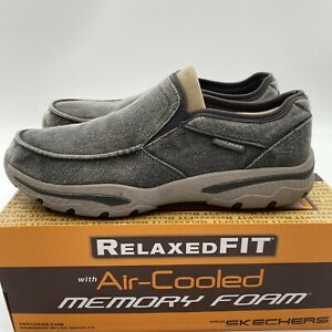 Skechers Men's Creston Moseco Relaxed Fit Slip-on Loafer Charcoal Gray Size 11