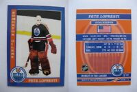 2015 SCA Pete Loprestia Edmonton Oilers goalie never issued produced #d/10