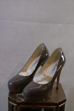 Brian Atwood High Heels in lack grau tolle Schuhe BITTE MESSEN! 272/45