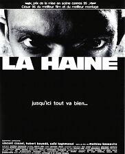 POSTER A4 PLASTIFIE-LAMINATED(1 FREE/1 GRATUIT)*MOVIE FILM AFFICHE LA HAINE.