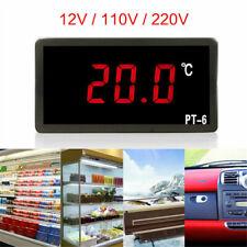12V 110V 220V Digital Medidor de temperatura termómetro integrado Acuario + Sensor