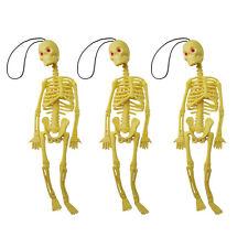 3pcs Poseable Skull Decoration Props Human Skeleton Halloween Scary Hanging