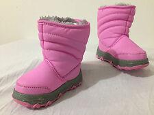 KHOMBU Wanderer T Slip-On Winter Snow Boots Pink Faux Fur Lined Little Girls 6M