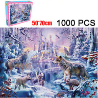 1000 Pieces Jigsaw Puzzles Educational Toys Castle Wolf Educational Puzzle Toy