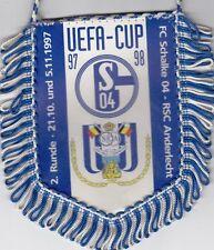 FC Schalke 04 + Wimpel + Banner + UEFA-Cup 1997/1998 vs RSC Anderlecht + RAR +