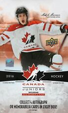 2016 Upper Deck Team Canada Juniors hockey cards hobby box