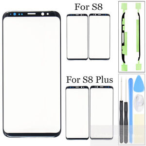 For Samsung Galaxy S8 S8 Plus Front Glass Lens Outer Screen Replacement +Tools