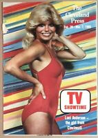 The Cleveland Press TV SHOWTIME Loni Anderson Cover Swimsuit 1980 - Missing pgs